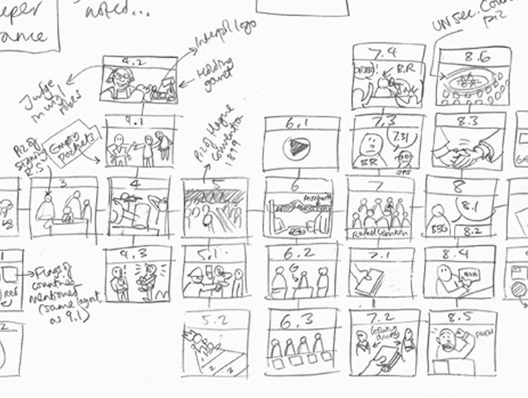 Story-boarding toward empathetic storytelling... (Source: empatheticmedia.com)